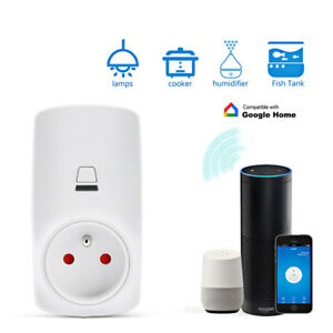 Smart Wifi Plug Wireless Socket Light Display Google Home Remote Control 1016A
