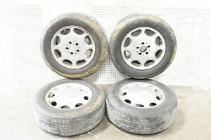 Mercedes-Benz S320 94 16 Factory Alloy Wheel  8 Oval Vents 600SEL S500 SET OF 4