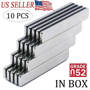 10PCS N52 Strong Neodymium Magnets Rare Earth Lifting Magnets 60x10x3mm $10.84