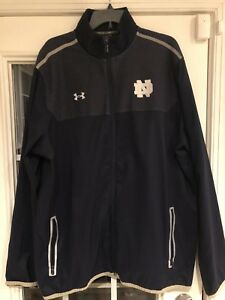 Mike McGlinchey Notre Dame Under Armour Jacket Size 2XL Loose Blue #68