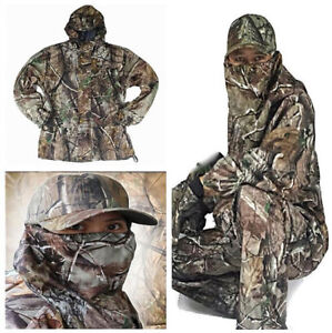 Magic New Bionic Camouflage Hunting Clothes Leaf Waterproof Jacket +Pants Suit