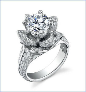 Blooming Beauty from Designer GREGORIO 1.80ctw 17g PLATINUM Diamond Semi Mount