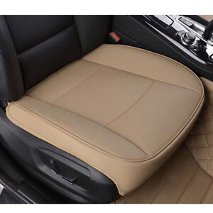 Universal PU Leather Car Driver Seat Covers Deluxe Pad Protector Cushion Beige