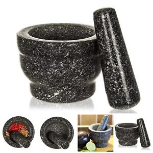 PREMIUM SOLID AND DURABLE NATURAL GRANITE PESTLE AND MORTAR SET SPICE HERB SEED