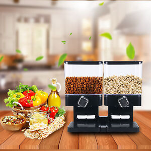 Dry Food Dispenser Dual Control for Cereal Trail Mix Candy Granola Nuts Beans