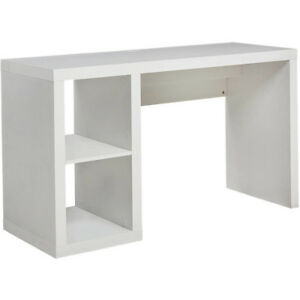 Small Compact Desk  White - Better Homes and Gardens Built-in cable door