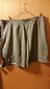 Men's BigTall Under Armour Gray Shorts 3XLTall Loose Fit Workout