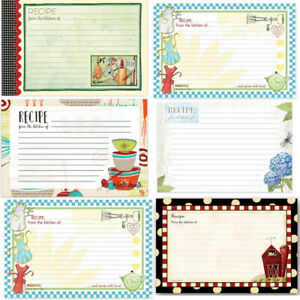 BROWNLOW RECIPE CARDS: PACK of 36 FRESH IS GOOD amp; MADE WITH LOVE FARM amp; RETRO