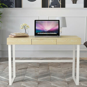 Modern Computer Desk Table WDrawer Home Office Study Writing Desk Chic C2W2