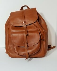 Madewell Backpack Transport Rucksack Brown Leather -Excellent Condition!!
