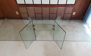 Mid Century Modern Pace Style Lane Glass & Chrome Dining Table