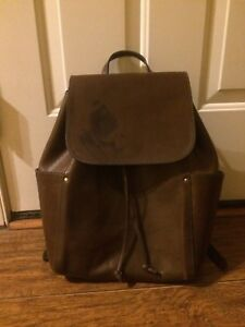 FRYE Casey Leather Backpack with Minor Defect — Dark Brown (DB187)