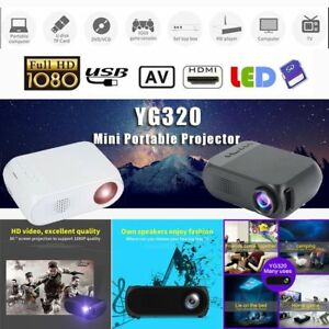 Portable 3D WIFI 1080P FHD LED Projector Home Theater Multimedia HDMIUSBAV