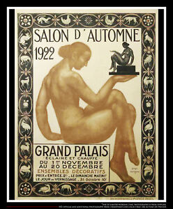 DORIGNAC AUTUMN EXHIBITIO 1922 On Linen 4x6 ft Vintage Advertise Poster Original
