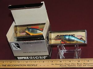 New Old Stock 6 Pack Of Rapala Shad Rap's Limited