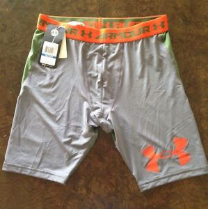 *UNDER ARMOUR* *NWT* Boy's XL Fitted Athletic Shorts Gray & Army Green
