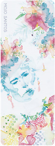 LUXE Eco Fitness  Yoga Mat 'Frida' Kahlo Watercolour Original Artwork