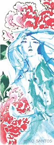 LUXE Eco Fitness  Yoga Mat 'Her Mind was Beautiful Watercolour Original Artwork