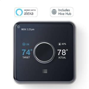 Hive Heating and Cooling Smart Thermostat Pack + Hub Works with Alexa + Google