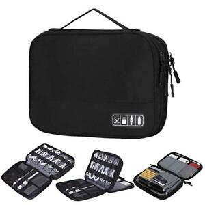 Double Layers Travel Cable Cord Organizer Electronics Accessories Case for Cords $15.99