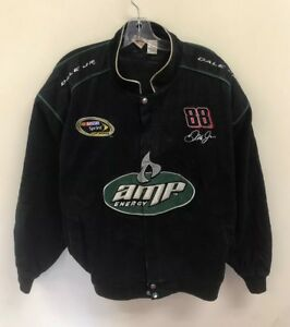Vintage AMP Energy Dale Earnhardt Jr NASCAR Racing Jacket Size Mens 2XL Black