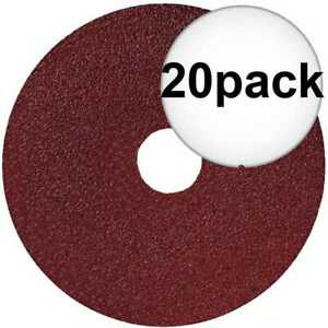 Sait 50021 20pk 5quot; x 7 8quot; 36 Grit Resin Fiber Disc for Sanders and Grinders New