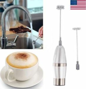 Detachable 2 Heads Milk Frother Whisk Electric Coffee Mixers Egg Beater Handheld
