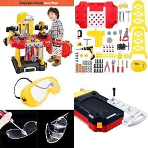 Young Choi's Kids Construction Toy Workbench for Toddlers 110 Pieces Kids Toys