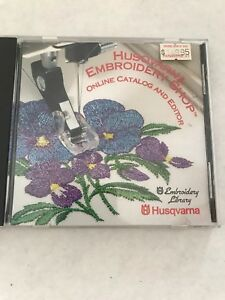 HUSQVARNA EMBROIDERY SHOP ONLINE CATALOG AND EDITOR LIBRARY 1996 FREE DESIGNS CD