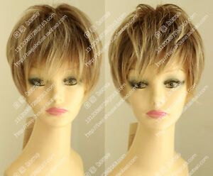 Handsome Youth Short Flaxen Blonde Lace Front Wig Hair Beautiful Toupee Boy Wig
