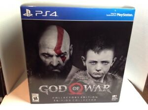 God Of War Collectors Edition PS4 SEALED RECALLED BOX WITH LITHOGRAPH REMOVED