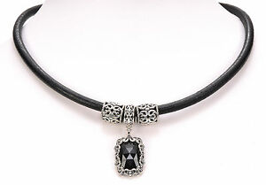 Carolyn Pollack Black Onyx Sterling Silver Necklace With 17