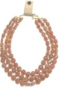 ANTHROPOLOGIE CATHERINE BIB RED MOTIF NECKLACE -- NEW WITH TAG