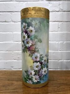 Antique Chinese Xing Ming Porcelain Gold Cylinder Vase Asian * French * Bavarian $3999.95