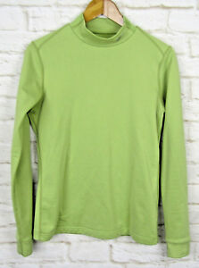 Nike Dry Fit Shirt Base layer Size Large 12-14 Girls Green Long Sleeve Active