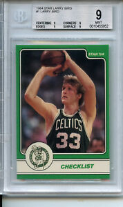 1984 Star Larry Bird Set #1 Larry Bird BGS 9