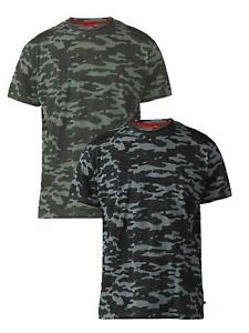 D555 Exta Tall Camouflage Print T-Shirt (Gaston)