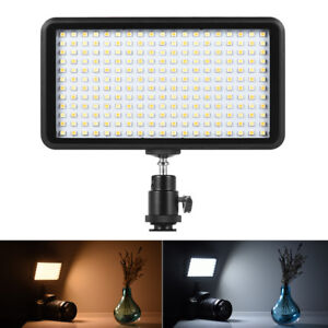 228 LED Video Light Lamp Panel Dimmable 20W 2000LM for Camera DV Camcorder