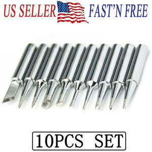 10PCS SET Solder Screwdriver Iron Tip 900M T for Hakko Soldering Station Tool $8.07