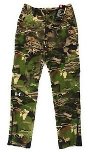 Under Armour Camo Hunting Pants Mid Season Wool Blend Womens Size 6 Storm 2