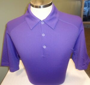 NEW NIKE GOLF Dri-Fit SPHERE DRY SOLID Polo SHIRT COURT PURPLE PICK SIZE $75