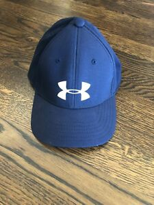 New Under Armour Stretch fit Golf Hat size Youth SMMD Blue