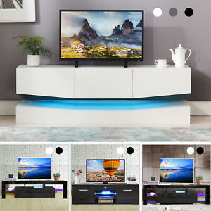 18 Types TV Stand Cabinet Console High Gloss+Tempered Glass wDrawers