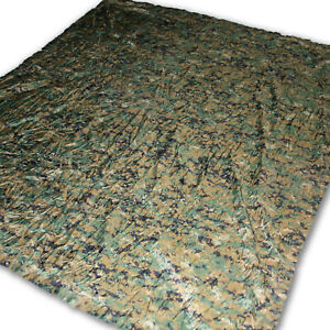 Used Woodland Reversible Field Tarp Military Issued Marpat Digital Camo 90