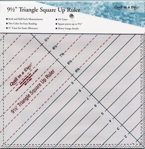 9 1 2quot; Triangle Square Up Ruler Quilt in a Day # 2012QD $16.75