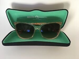Etnia Barcelona designer women's Sunglasses gold Brown wcase good pink