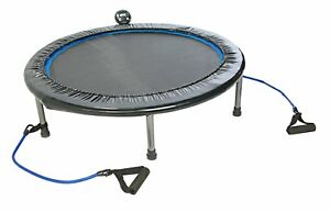 NEW Home Workout Trampoline w Resistance Band Handles Weight Loss Cardio Gym