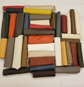 Premium Italian Cowhide Leather Scrap Upholstery 2 lbs LargeSize Flawless Pieces $24.99