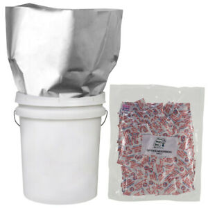 50 QUART Mylar Bags 50 100cc Oxygen Absorbers for Long Term Food Storage