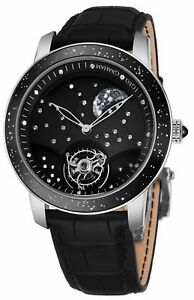 Graham Mens Moon Watch Black Case 18K White Gold 48 Diamonds LIMITED EDITION NEW